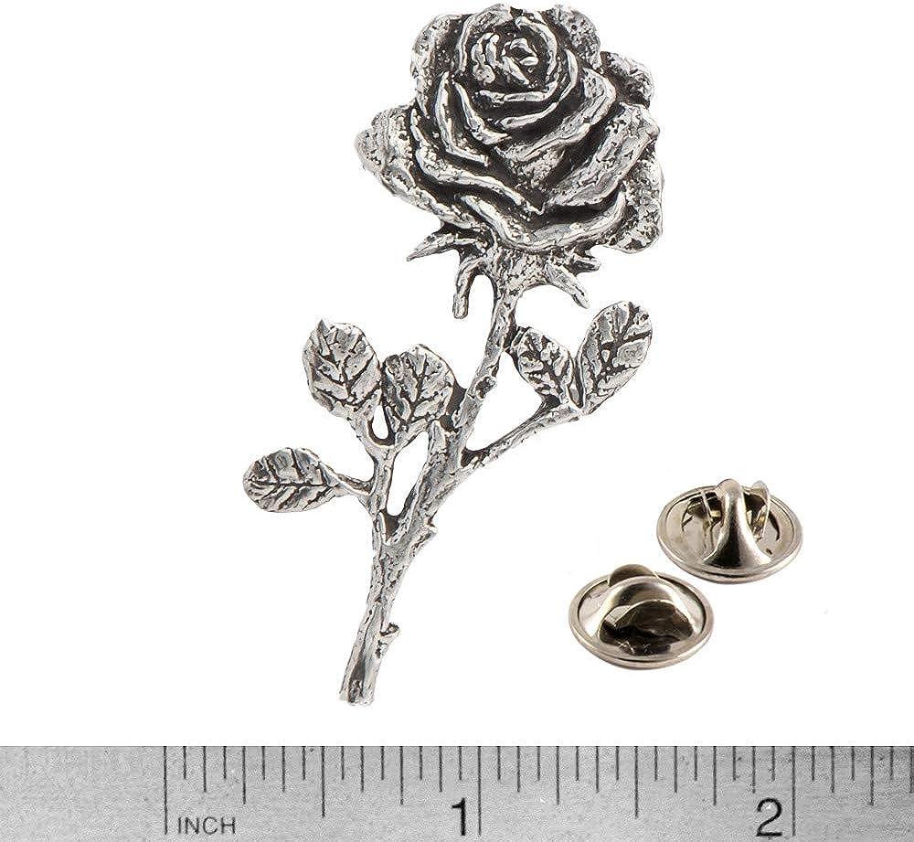Metal Enamel Pin Badge Brooch Rose Roses Flower Romantic Love Plant Garden