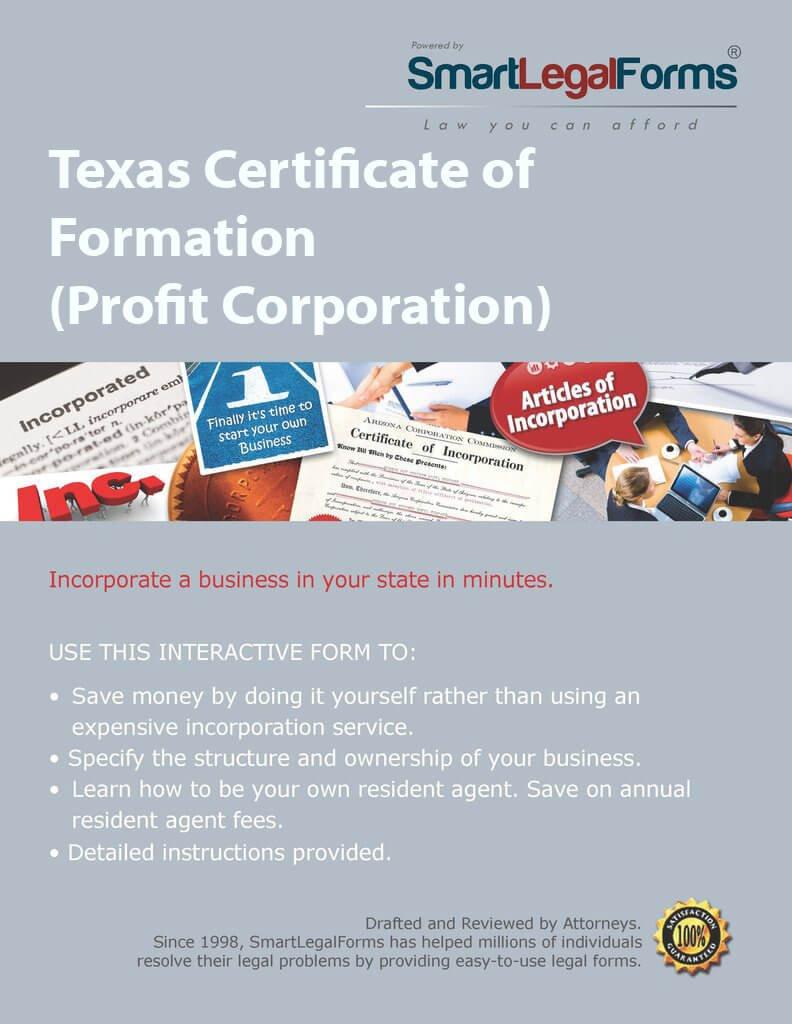 Amazon Certificate Of Formation Profit Corporation Tx