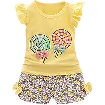 ad99778e972d ... Amlaiworld Bebe Niña Camiseta Sin mangas y Pantalones cortos Florales Verano  Conjunto de Ropa