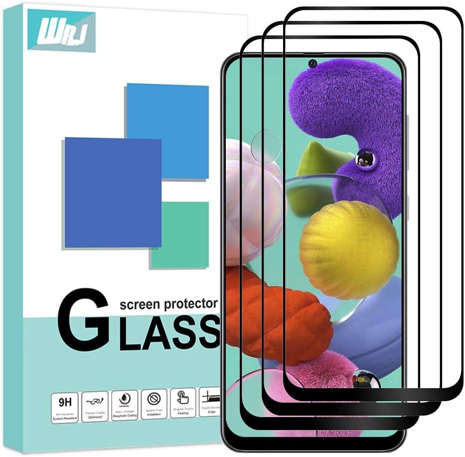 Wrj Samsung Galaxy A51 Hd Screen Protector Anti Scratch Anti Fingerprint Bubble Free 9h Hardness Tempered Glass Black Elektronik