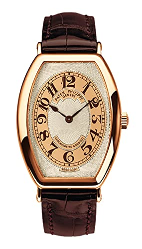 PATEK PHILIPPE Gondolo Hombres Oro Rosa Reloj de pulsera correa de piel color marrón: Patek Philippe: Amazon.es: Relojes