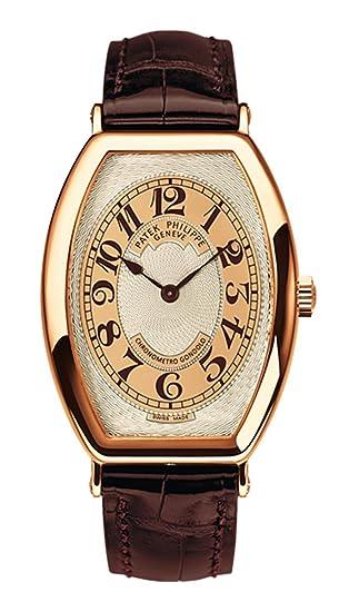 PATEK PHILIPPE Gondolo Hombres Oro Rosa Reloj de pulsera correa de piel color marrón