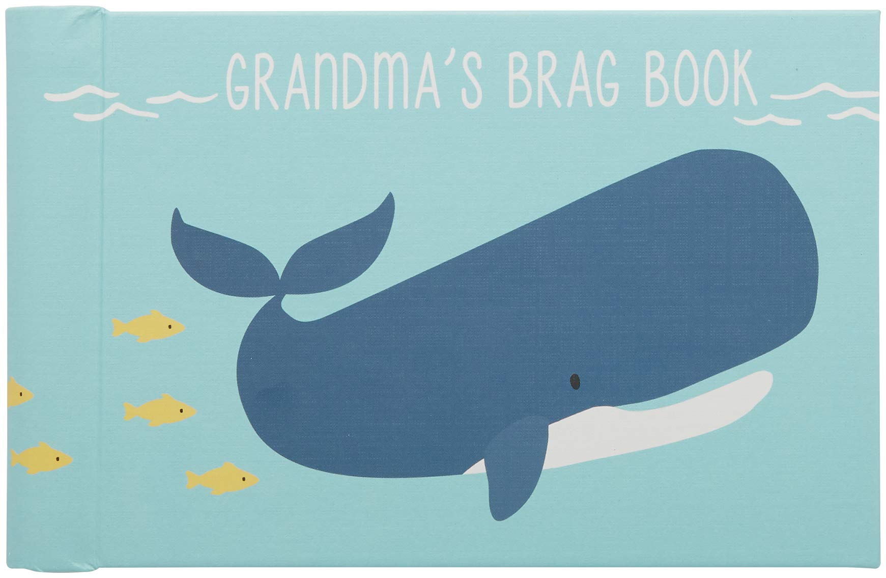 C.R. Gibson Grandma's Brag Book, by Carter's, 10 Sheets/20 Pages, Measures 4.5 x 7 - Under The Sea - includes (1) baby photo book. Measures 7.25'' W x 4.5'' H. 20 photo pages. Will hold up to 40 4'' x 6'' photos. This Grandma's baby girl brag book contains 20 pages and can hold up to 20 4'' x 6'' or 3.5'' x 5'' pictures. There will be no shortage of room for grandma to show off her little ones. - wall-art, living-room-decor, living-room - 61udix 8q8L -