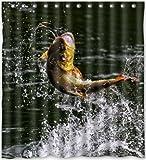Fly Fishing Shower Curtain FJAR8 Bath Curtain 66