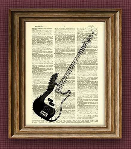 fender precision electric bass guitar illustration beautifully upcycled dictionary. Black Bedroom Furniture Sets. Home Design Ideas