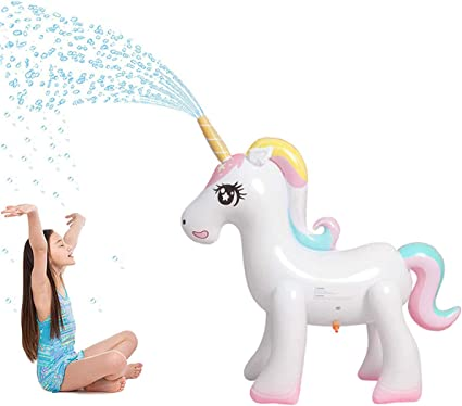 Amazon.com: Panther aspersor mágico inflable de unicornio ...