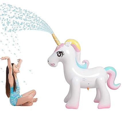 Amazon.com: Panther aspersor mágico inflable de unicornio ...
