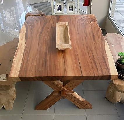 Rococo Tavolo Da Lavoro Massiccio Da 150 Cm Gambe In Legno Cross Leg Amazon It Casa E Cucina