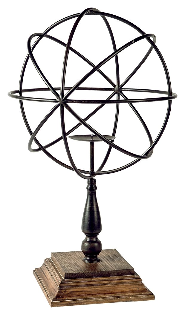 Signature Design by Ashley A2000253 Devlin Candle Holder, Bronze Finish