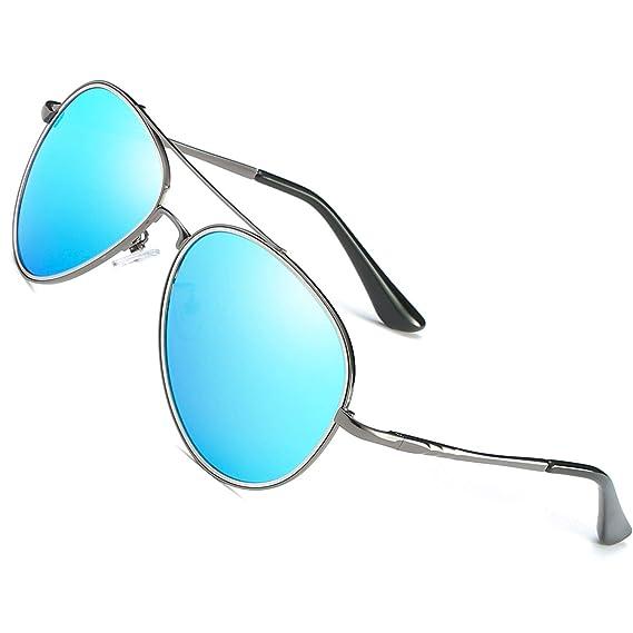 c509f0abb0 LEDING&BEST Gafas de sol polarizadas para hombre mujere marco de metal,Deportes  estilo conducción gafas