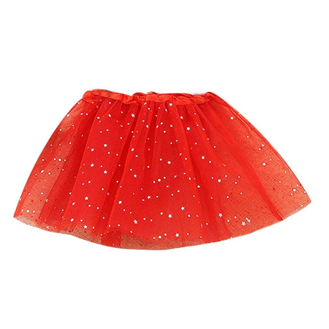 Jupe Fille, Mounter Puff Étoiles Danse Ballet Jupe [Stars] [Paillettes] Tutu Princesse Jupes