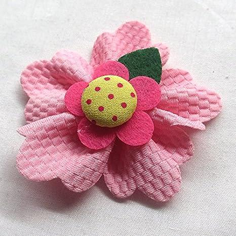 Chenkou Craft Large 6CM Padded Felt Ribbon Flowers Bow Appliques Decoration 15pcs