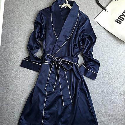 Wanglele La Primavera Y El Otoño Vestir Damas De Manga Larga De Seda Satin Mate Pijama