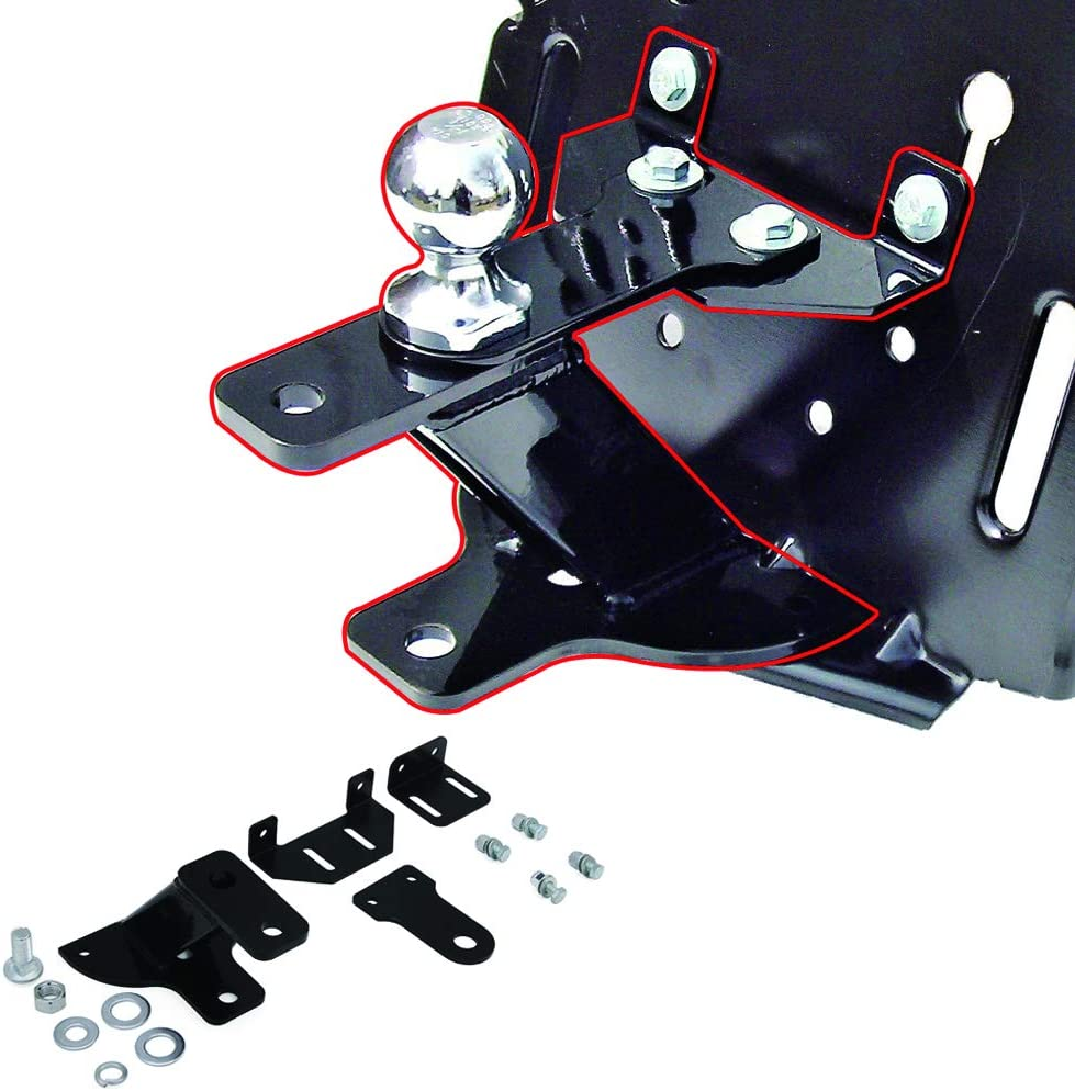 """HEKA Universal 5"""" Rise 3 Way Lawn Garden Tractor Hitch with Support Brace Kit"""