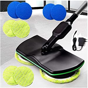YOUTH BURST Aircraft Powerglide Cordless Electric Spinning Mop,Rechargeable Powered Floor Cleaner Scrubber Polisher Mop, Handheld Vacuum Floor and Carpet Tile Sweeper