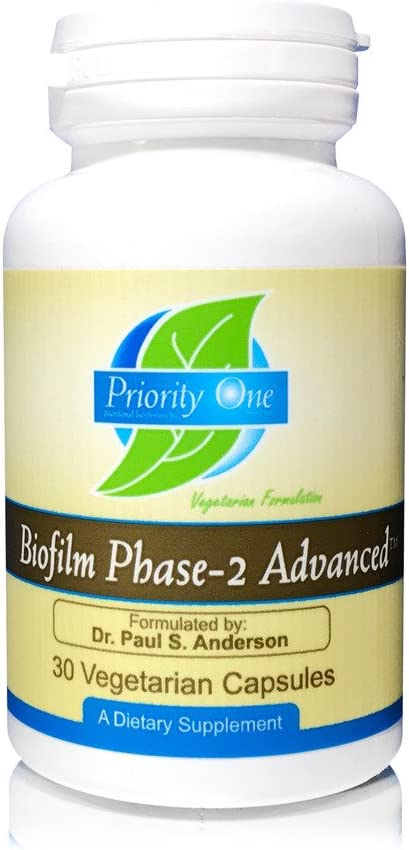 Priority One Vitamins Biofilm Phase-2 Advanced 30 Vegetarian Capsules Exclusively formulated by Dr. Paul S. Anderson – Disruption of Advanced biofilms*