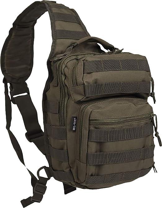 Mil-Tec Mochila One Strap Assault Pack SM, Color Verde, 30 x 22 x ...