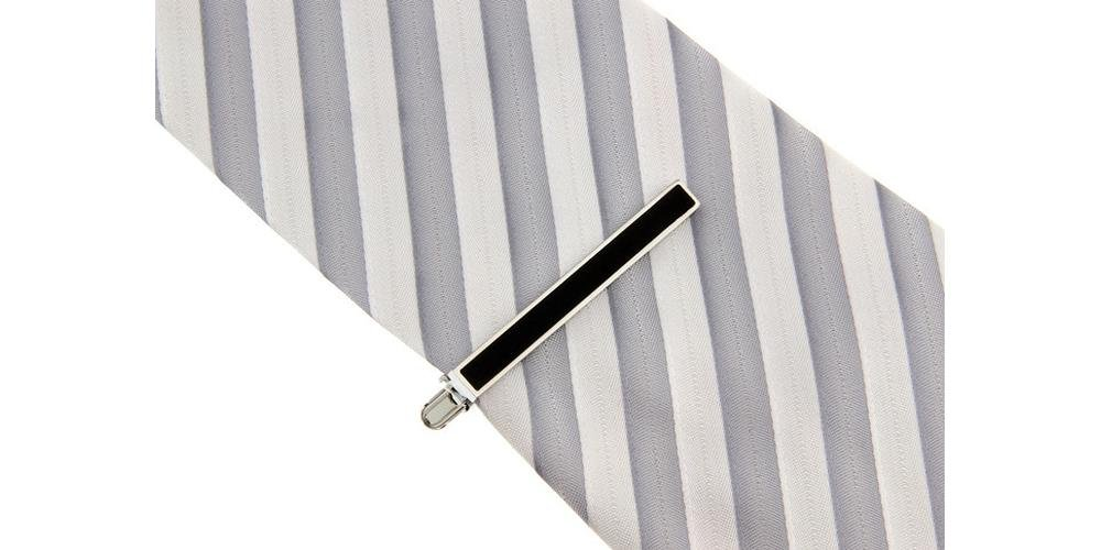Tieclip Mike - black - Business Wedding Gift Present Accessories for Men