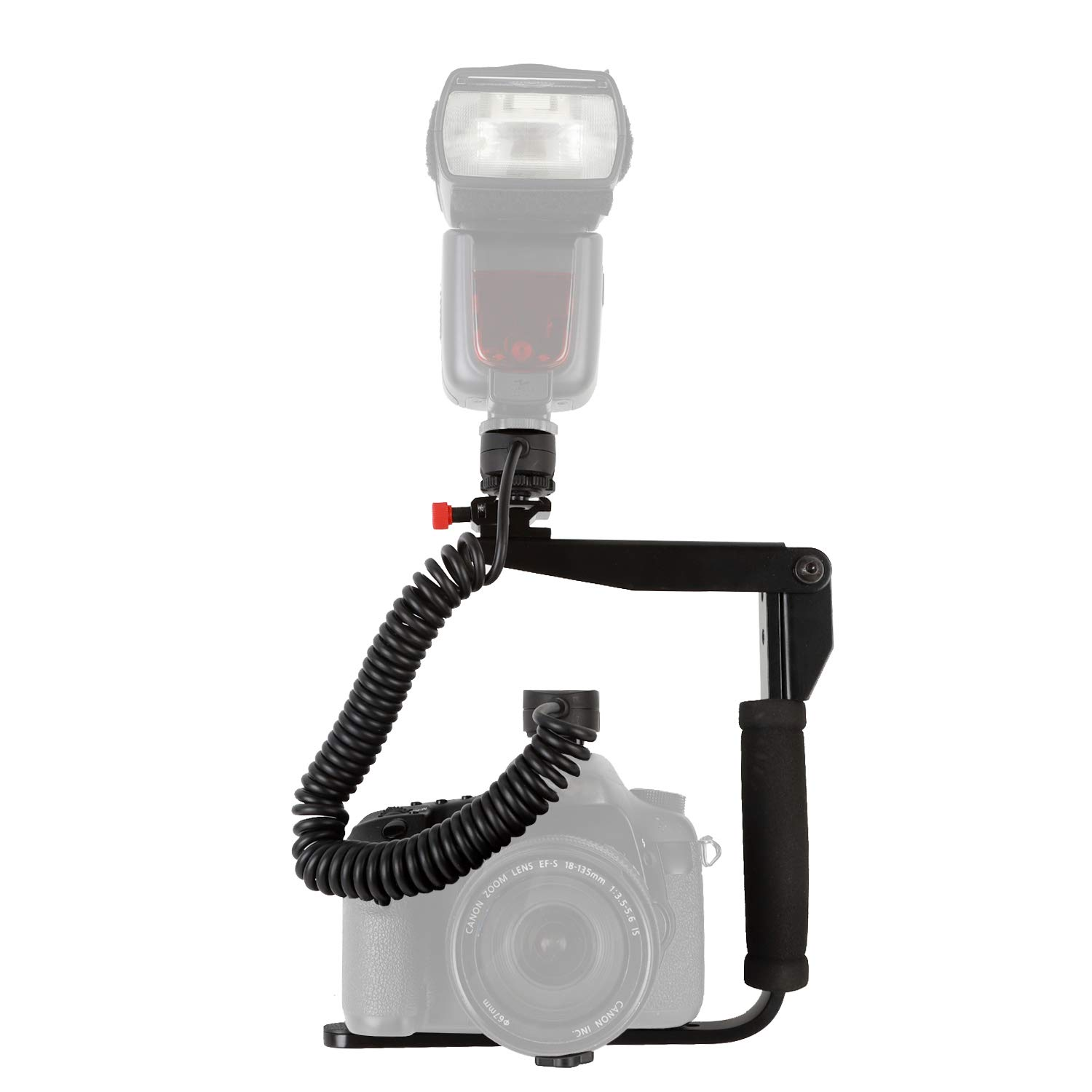 Easy Hood Rotating Flash Bracket Mount and 6.6ft TTL Off Camera Flash Speedlite Cord for Sony A9 A7 A7R A7S A7 III A7R II A7R III A7SII A7RMII A6500 A6400 Cameras with Multi Interface MI Shoe by Easy Hood