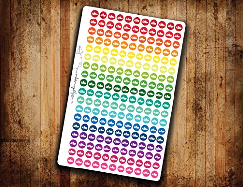running-planner-sticker-weightloss-running-shoe-rainbow-circle-icon-die-cut-removable-and-reposition