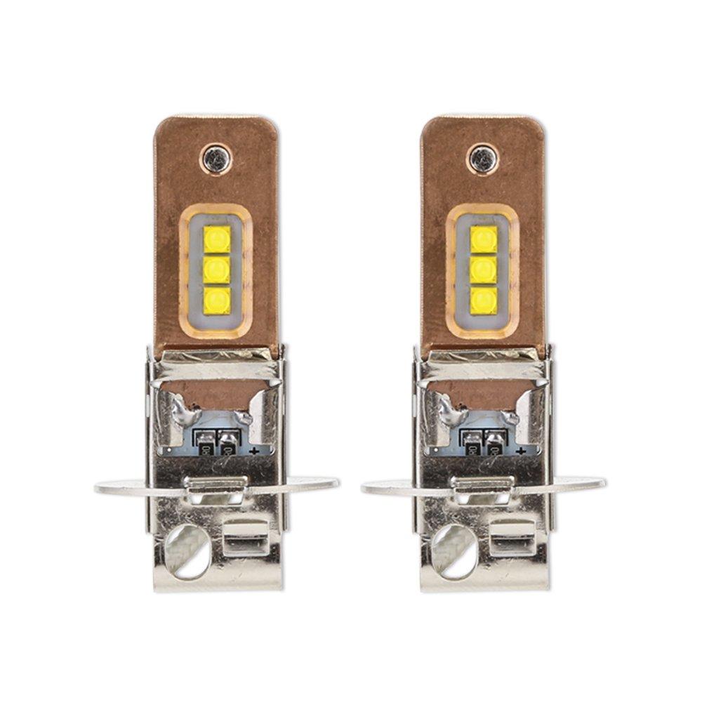 HopeU5 2xH7 Faro per fari abbaglianti bianco, 1800LM (900LM ogni lampadina), 6000K, DC12-24V CREE XBD Lampada per fari fendinebbia, 1 anno di garanzia ALEX