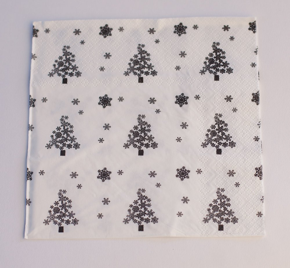 PAPER NAPKINS 3 LAYERS 6 DESIGNS 20 / PACK PARTY ZOO VINTAGE HALLOWEEN CHRISTMAS (Christmass Tree) Decor Trader