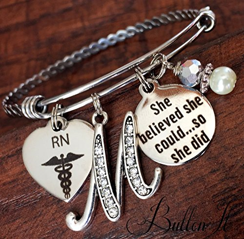 RN gifts, BSN, Nurse gift, Nurse graduation gift, She Believed she could so she did, Nurse Graduate, Class of 2018, RT, PT, NP, Pharmacist, accomplishment