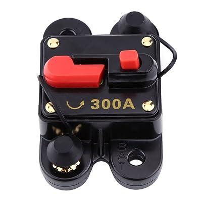 12V-24V 80-300A DC Coche Auto Marine Bicicleta Estéreo Audio Interruptor de Circuito Restablecer Fusible(300A)