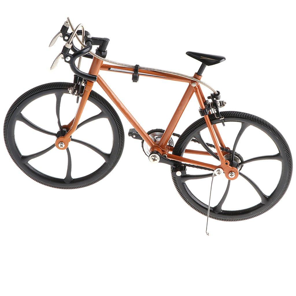 CUTICATE 1:10 High Artificial Zinc Alloy Racing Exquisite Bike Bicycle Model, Champagne Gold by CUTICATE