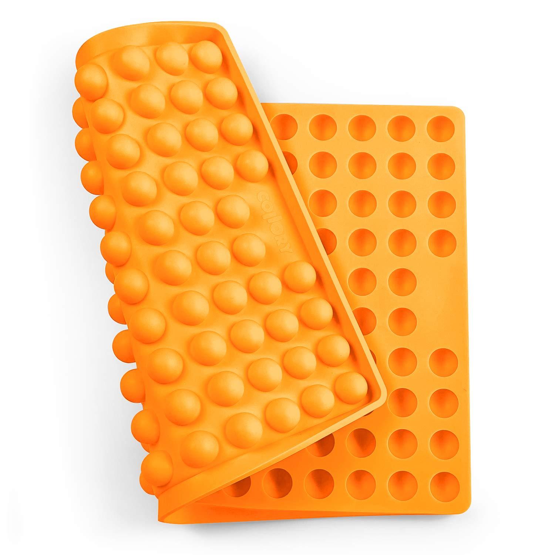sin BPA Resistente al Calor 240 /°C Molde de Silicona para Galletas de Perro Apto para Alimentos 40cm x 28.5cm x 1.5cm Verde Collory 40 x 28,5 x 1,5 cm semiesf/érico 2 cm