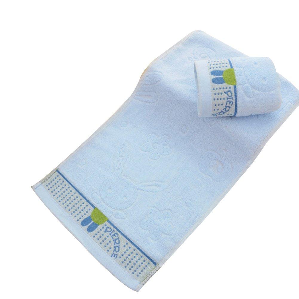 Lx10tqy 1 Pc Rabbit Animal Cotton Super Soft Water Absorbing Kids Bath Towels Gift - Blue