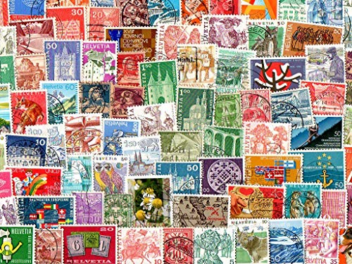 Switzerland : 1500 Different Stamps Collection Mixture Packet Stamps for Collectors