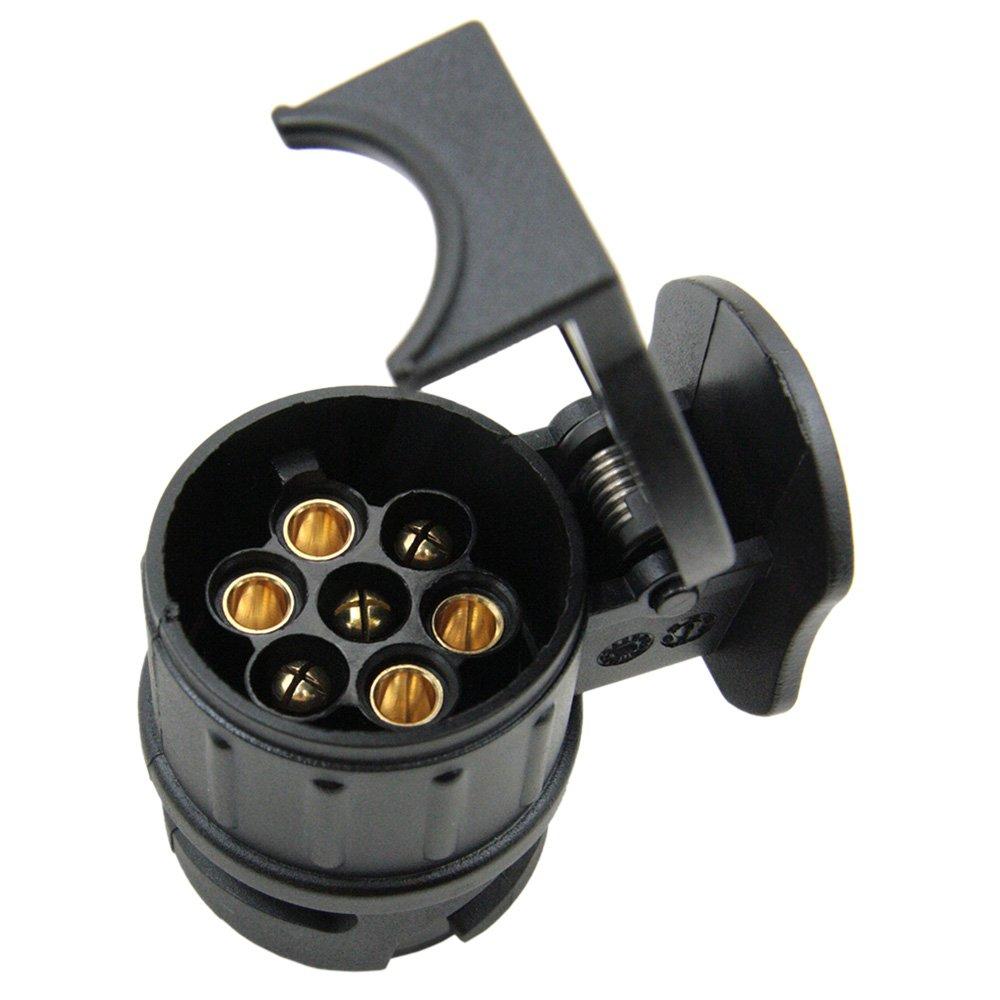 Mit Kabeladapter Verkabelung Stecker Anh/ängerkupplung /& Socket KKmoon 12V Adapter f/ür Anh/änger 13 Polig auf 7 Polig Adapter//Anh/ängerkupplung Von 13-Pin Auto auf 7-Pin Anh/änger