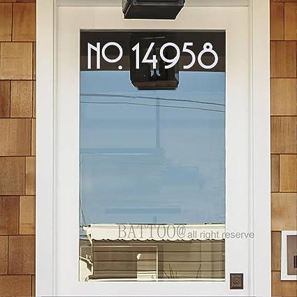 BATTOO Set Of 2 Door Number Decal Vinyl Mailbox Address Number Decor Front  Door Decal House