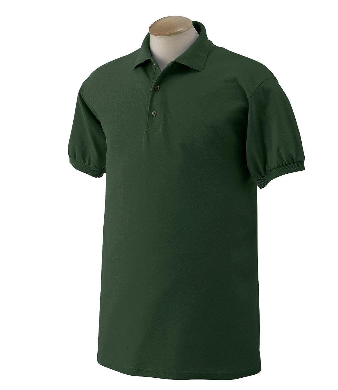 G880/_FOREST GREEN/_Large Gildan DryBlend 6 oz. 50//50 Jersey Polo