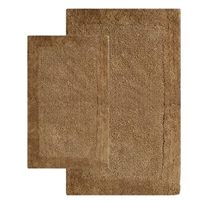 "Chesapeake Bella Napoli 2 Pc. Linen Bath Rug Set 40110 (21""x34"" & 24""x40"") - Set of two 100% Cotton bath rugs Machine-tufted construction Lightly sprayed anti-skid backing keeps rug safely in place - bathroom-linens, bathroom, bath-mats - 61udpVkwuaL. SS400  -"
