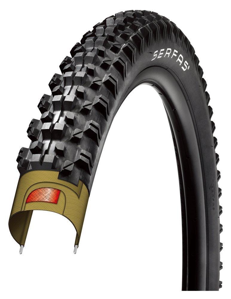 Serfas Krest Folding Mtb Tire (Black 26 X 2.1) [並行輸入品] B077QRCM4C
