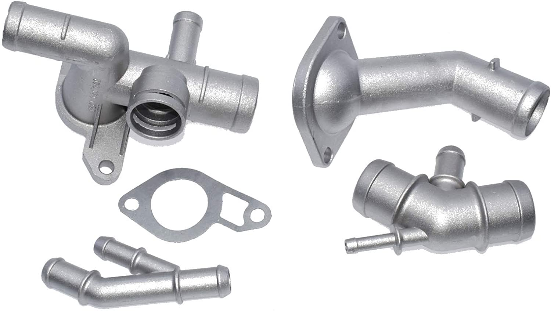 Aluminium Engine Cooling Coolant Flange Hose Kit For VW Golf Jetta Audi A3 TT