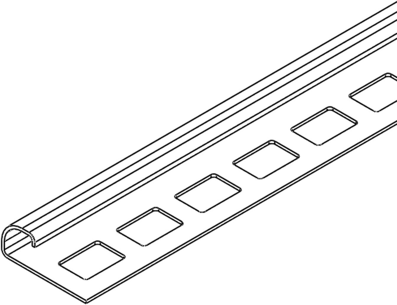 HORI Fliesenprofil I L/änge 2,50 m I Au/ßenecke rund I H/öhe 11 mm I Edelstahl massiv geb/ürstet