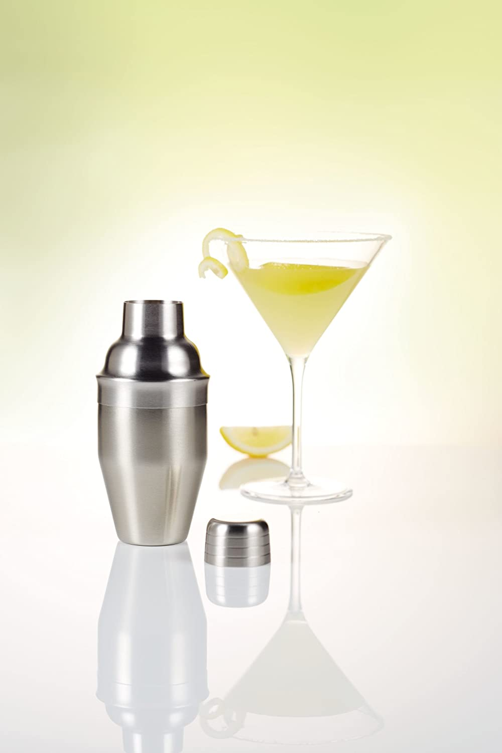 250 ml KitchenCraft BarCraft Mini Cocktail Shaker with Recipe Booklet and Gift Box Brass Finish