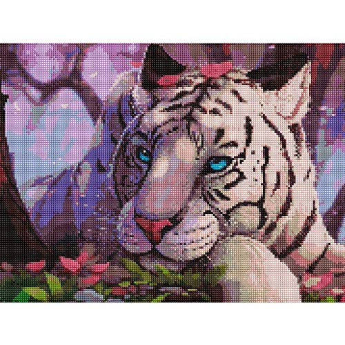 (5D Diamond Painting Kits for Adults Full Drill Diamond Colorful - Cute Tiger, 9.8 X 11.8)