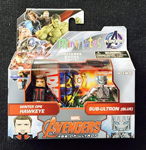 Marvel Avengers Age of Ultron Minimates Series 61 Long Coat Hawkeye with Sub-Ultron Minifigure 2-Pack - Avengers Age Of Ultron Hawkeye