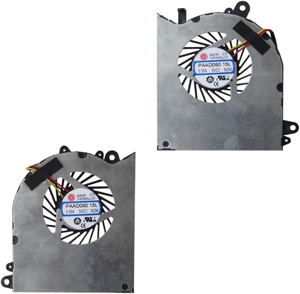 Compatible Laptop CPU Cooling Fan Cooler for Notebook PC for MSI GS60 6QD 6QE 6QC 2QE 2PE 2PC 2QD 2PL GPU E322500025A0 PAAD06015SL N294 N293 AAVID 0.55A 5VDC N223 N234 MS-16H2 MS-16h7 ms-16h5 ms-16h4