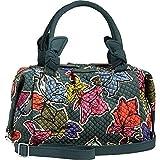 Vera Bradley Women's Hadley Satchel Falling Flowers Handbag