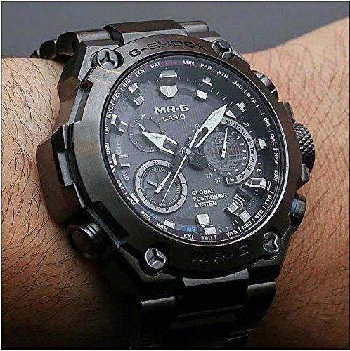 65d0b55b99b Amazon.com  Casio Men s MRG-G1000B-1A G-shock MR-G Analog Quartz GPS Hybrid  Wave Ceptor Solar Watch  Watches