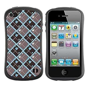 ArtSpace Premium Hybrid Back Case Cover Apple iPhone 4 / 4S ( Diamond Pattern )