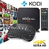 MXQ Pro 4K Kodi 17.3 Krypton Ultra HD TV Box Android 6.0, 64Bit  Quad Core, H.265 4K Decoding