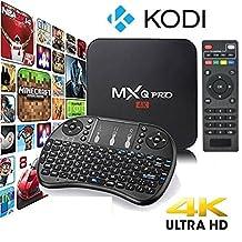 MXQ Pro 4K Kodi 17.3 Krypton Ultra HD TV Box Android 6.0, 64Bit  Quad Core, H.265 4K Decoding