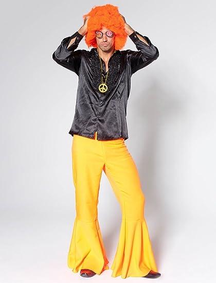 Hombre pantalones de traje de impacto nedón - Naranja, 50 ...