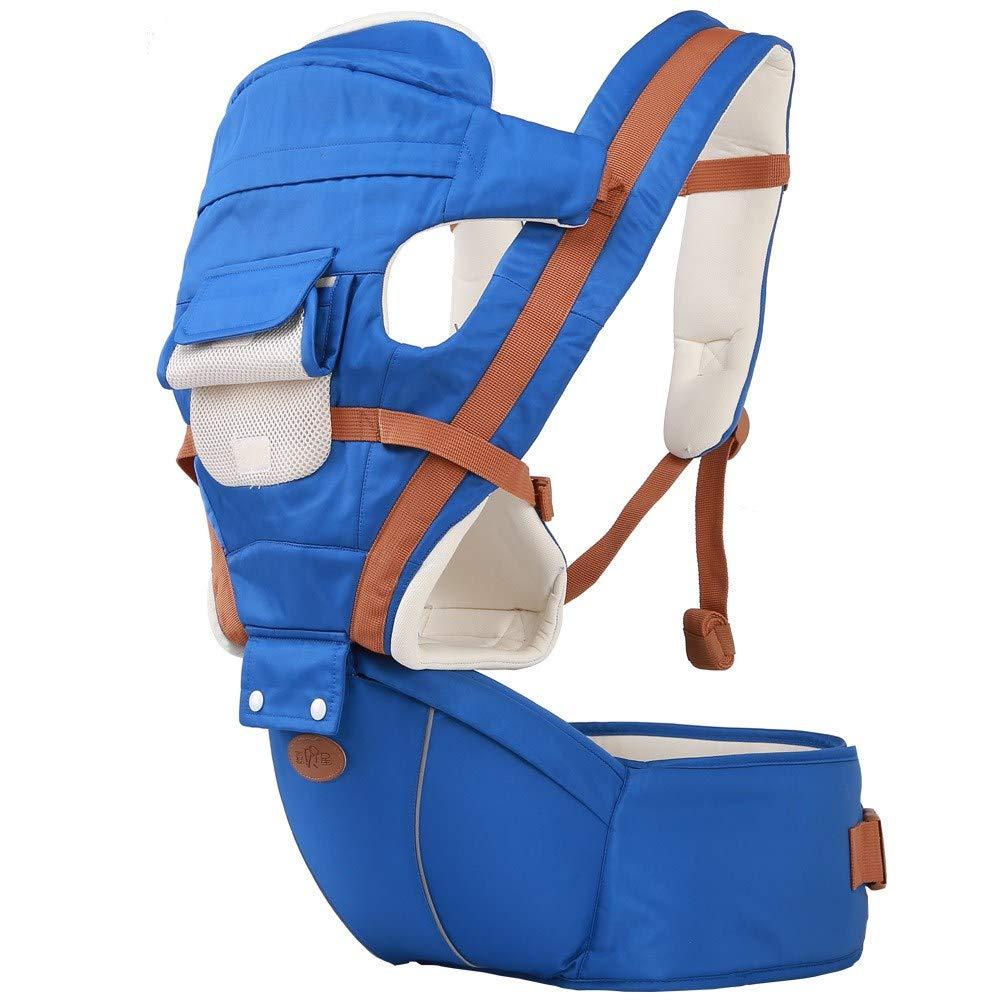 Atmungsaktive Multifunktions-Babytrage bis zu 3 Jahren (10-50 lbs), ergonomische Tragepositionen, Marine